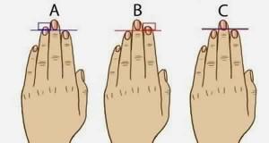 Ce que la Longueur de vos doigts révèle votre personnalité!
